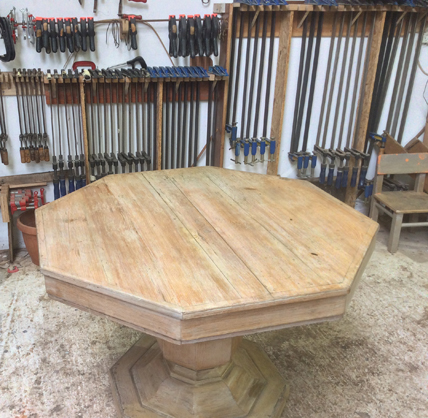 Octagonal dining table2