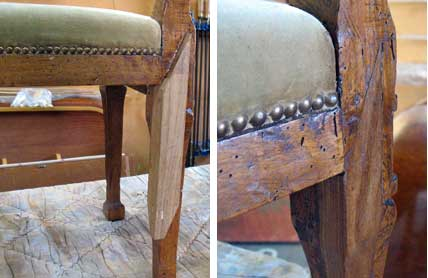 Antique Furniture - Italian Chair Restoration4