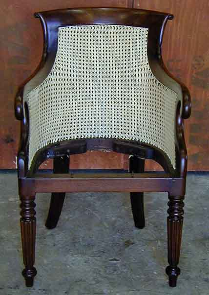 Restoration of Caned Italian Mahogany Chair | Jeremy Zetland4