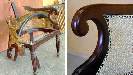 Restoration of Caned Italian Mahogany Chair | Jeremy Zetland1